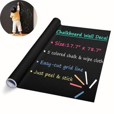 DIY Wall Stickers Removable Washable Chalkboard Blackboard Decals