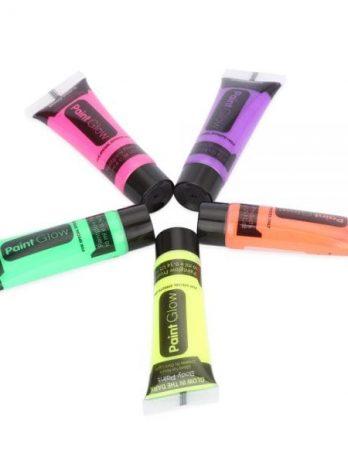 5pcs Professional Flash Fluorescent Body Paint Grow Face Pigment Luminous Acrylic Art for Party Makeup