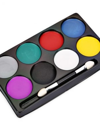 8 Color Non-toxic Water Makeup Face Halloween Paint Color Devil Fans