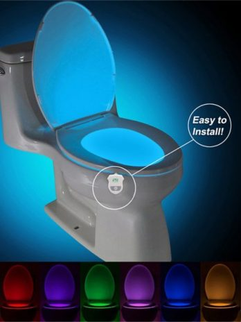 2PCS Ywxlight Ip65 Smart Bathroom Toilet Nightlight Led Seat Sensor Lamp 16 Color