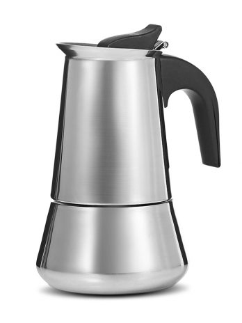 Stovetop Espresso Maker Stainless Steel Moka Coffee Pot 100ml