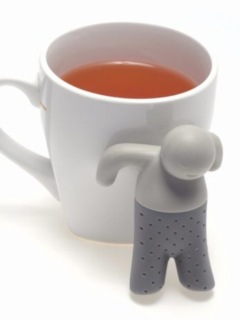 Mr. Tea Infuser Silicone Doll Tea Strainer Filter Gray